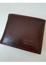 Промоция - мъжки портфейл за подарък Boss в шоколадово кафяво