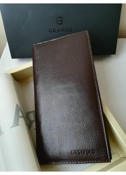 Луксозен мъжки подаръчен портфейл в цвят кафе