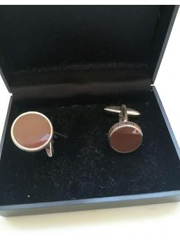 Сватбени и абитуриентски ръкавели в цвят кафяво модел Brown