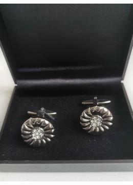Луксозни мъжки копчета за ръкавели за младоженец и шафери модел Round
