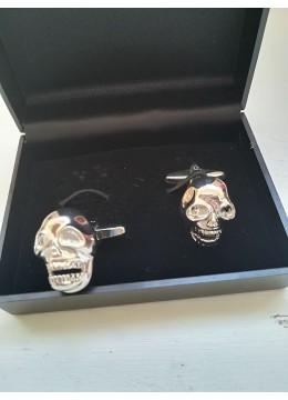 Забавни ръкавели за подарък на младоженец абитуриент и кум с череп модел Skull