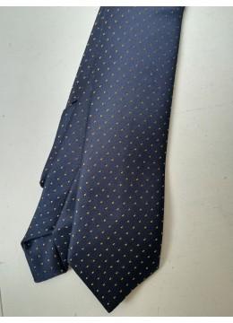 Копринена вратовръзка за абитуриентски бал и сватба в тъмно синьо и златно