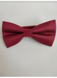 Луксозна мъжка папийонка цвят вишнево червено