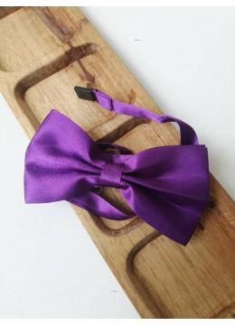 Готова папийонка за официални поводи тъмно лилаво на коригираща се лента