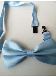 Папийонка за младоженец в светло синьо