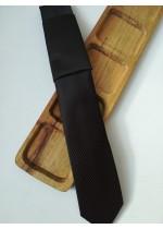 Мъжка вратовръзка за бизнес - жакард в черно и тъмно лилаво by Greda K0883