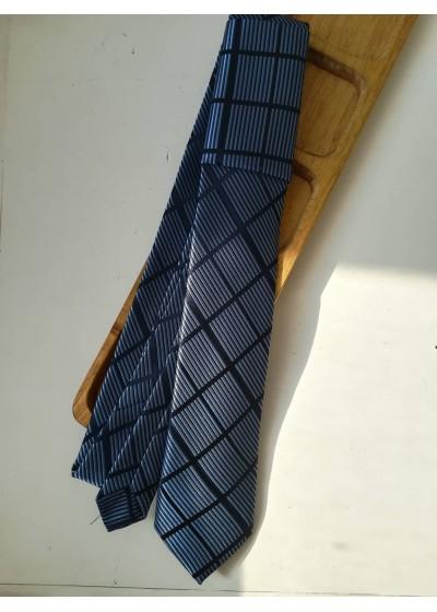 Мъжка копринена вратовръзка в тъмно и светло синьо К0881