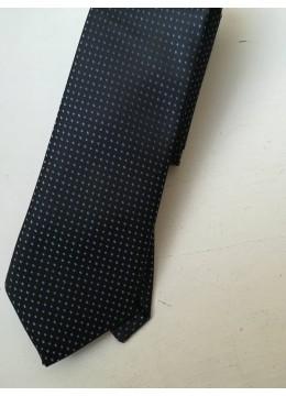 Елегантна копринена мъжка вратовръзка в тъмно и светло сини нюанси