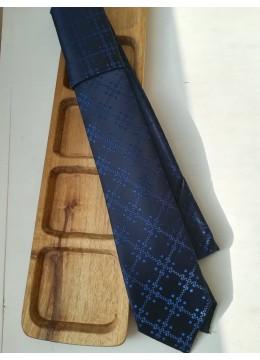 Копринена вратовръзка за младоженец в тъмно сини нюанси by Polovito