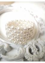 Стилна гривна на 5 реда с акрилни перли - Beautiful Bride