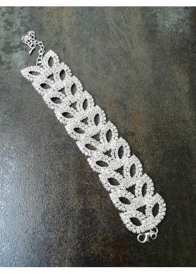 Кристална гривна за булка и абитуриентка сватба Chain of Flowers