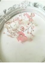 Нежна официална гривна с кристали Сваровски в розово Rose Magic Garden by Rosie