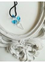 Подарък за шаферка ръчно изработен медальон ангелче цвят тюркоаз