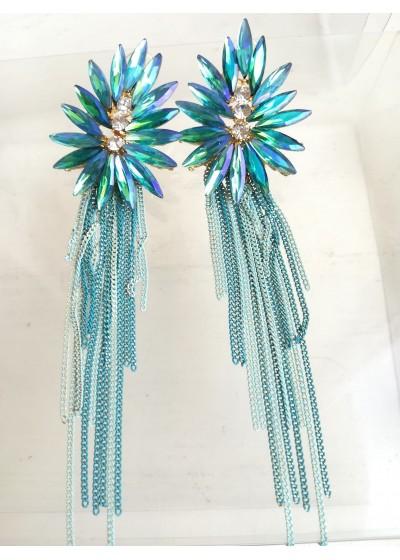 Висящи кристални обици Tiffany Blossom