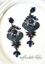 Висящи кристални обици в тъмно синьо Venice