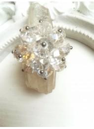Нежен дизайнерски пръстен с бели кристали за сватба и бал Perfectly Clear by Rosie