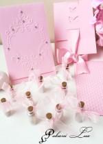 Подарък за гости на абитуриентски бал шишенце в розово над 20 бр