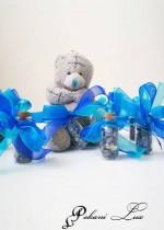 Подаръче за гости на бал шишенце Дуо с Лазурит и кристал над 20 бр