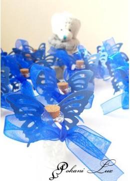 Абитуриентски сувенири за гости шишенце в тъмно синьо с тагче над 20 бр
