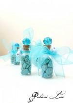Абитуриентски подаръци за гости в тюркоазено - шишенце с кристал над 20 бр