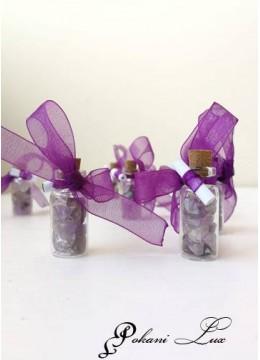 Подаръче за гости на абитуриентски бал шишенце в лилаво над 20 бр