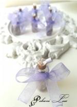 Сватбено подаръче за гости шишенце с Аметист и кристал над 20 бр