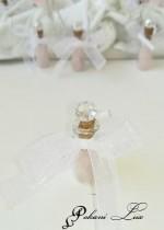 Сувенири за гости на сватба бал и кръщене в розово и бяло с кристал над 20 бр