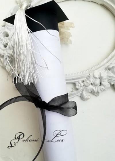 Покана за абитуриентски бал модел Hat цвят черно