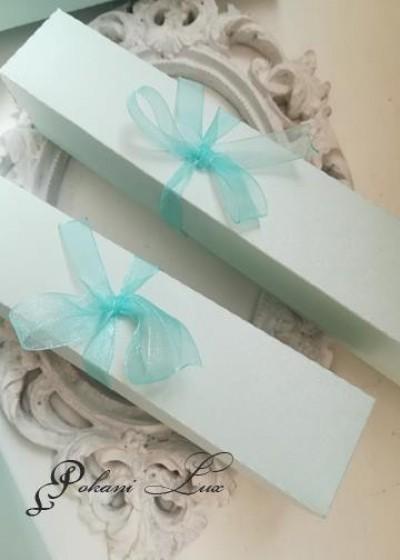 Дизайнерска покана с кутийка модел Blue светло синьо