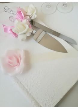 Сватбена торта- прибори в розово серия Japanese Blossom by Rosie Concept