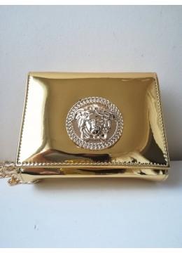 Булчинска чанта в златно модел Versace Gorgon Gold