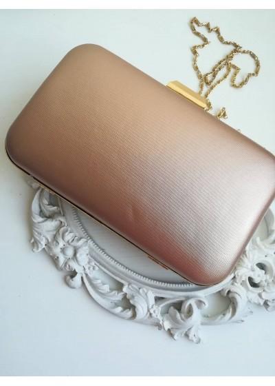 Официална дамска чанта цвят праскова