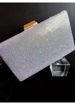 Кристална официална дамска чанта с кристали Сваровски АБ ефект