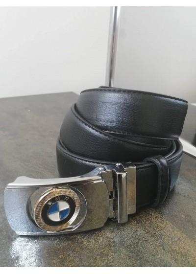 Колан за младоженец от естествена кожа с автоматична двулицева тока BMW с подаръчна чанта