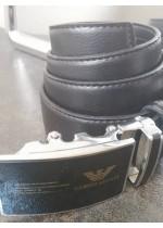 Колан за младоженец телешки бокс с автоматична тока стомана и стъклокерамика Giorgio Armani и подаръчна чанта