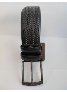 Луксозен мъжки колан от естествена кожа в черно