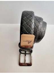 Стилен черен мъжки колан от естествена кожа