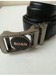 Мъжки кожен колан за младоженец с автоматична двустранна въртяща се тока модел Boss