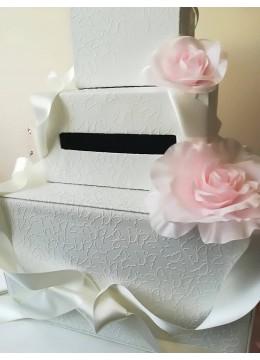 Сватбена кутия за пари и пожелания от дизайнерската серия Japanese Blossom by Rosie Concept - 3 реда