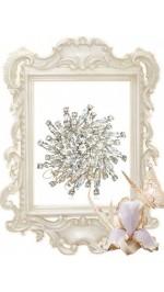Брошки, кристали и декорация за сватбени букети