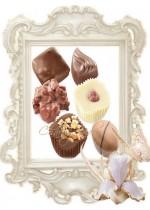 Шоколадови сватбени бонбони