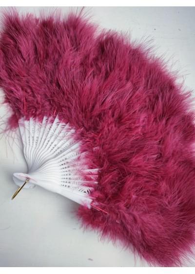 Булчинско ветрило от пера в цвят тъмно червено - Бордо - модел Де Лукс