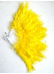 Булчинско ветрило от пера в жълто