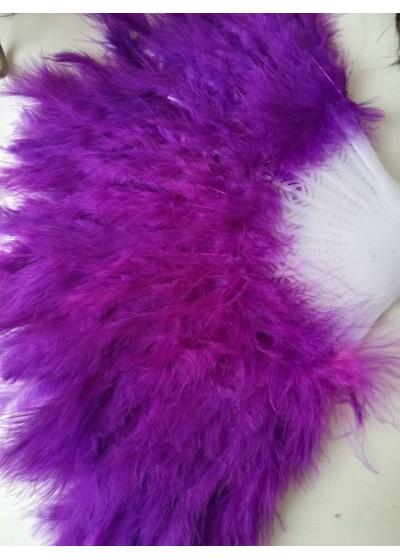 Булчинско ветрило от пера в цвят лилаво