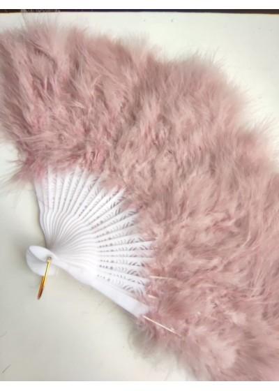 Булчинско ветрило от пера в цвят пепел от роза - модел Де Лукс